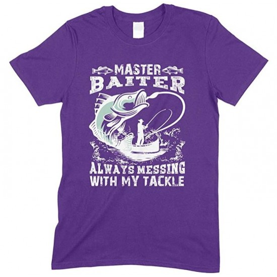 Master Baiter Always Messing with My Tackle -Kids T Shirt Boy-Girl