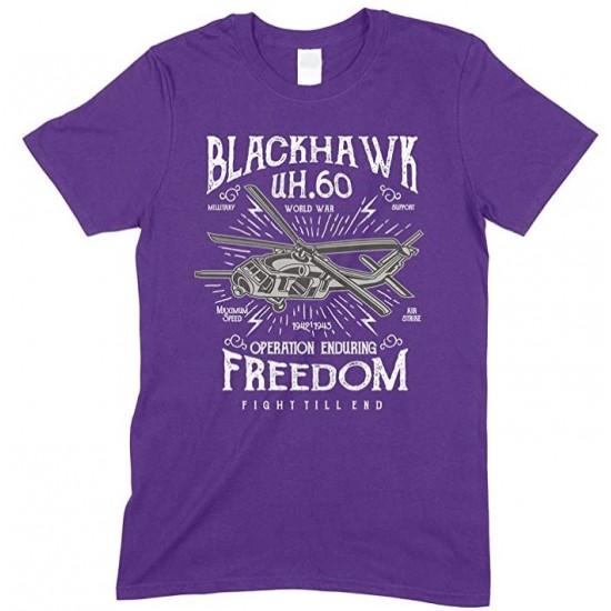 Blackhawk UH.60 World War Operation Enduring Freedom Fight Till End-Men's Unisex T Shirt