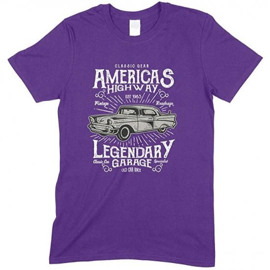 Classic Gear America's Highway Legendary Garage -Unisex Men's T Shirt
