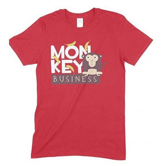 Adults Monkey Business - Novelty Funny Men's Unisex T Shirt