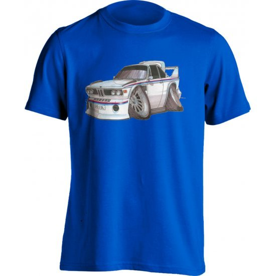 Koolart BMW 3.0 CSi White/Red&Blue Stripe – 0732 Child's T Shirt