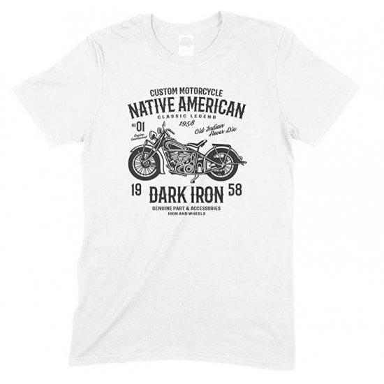 Custom Motorcycle- Native American Classic Legend Dark Iron- Kid's T Shirt Boy/Girl