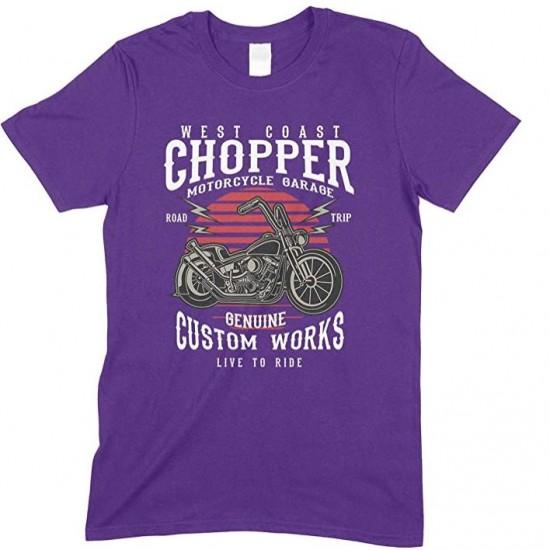 West Coast Chopper- Motorcycles Gargae- Road Trip -Live to Ride-Men's Unisex Fun T-Shirt