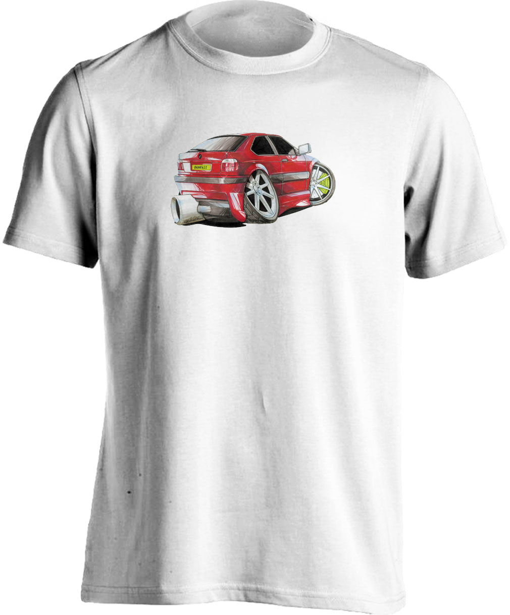 Koolart BMW Compact Red -1200- Adults Unisex T Shirt