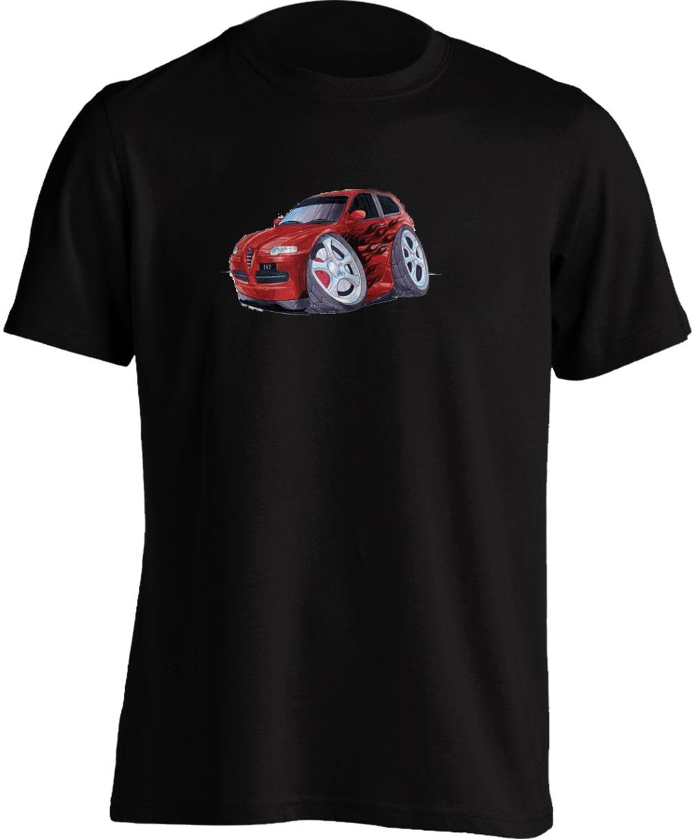 Koolart 147-2786 Tuning Red Alfa Romeo Child's T Shirt