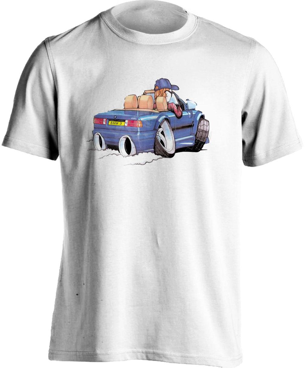Koolart BMW 325I Blue- 1514 -Adults Unisex T Shirt
