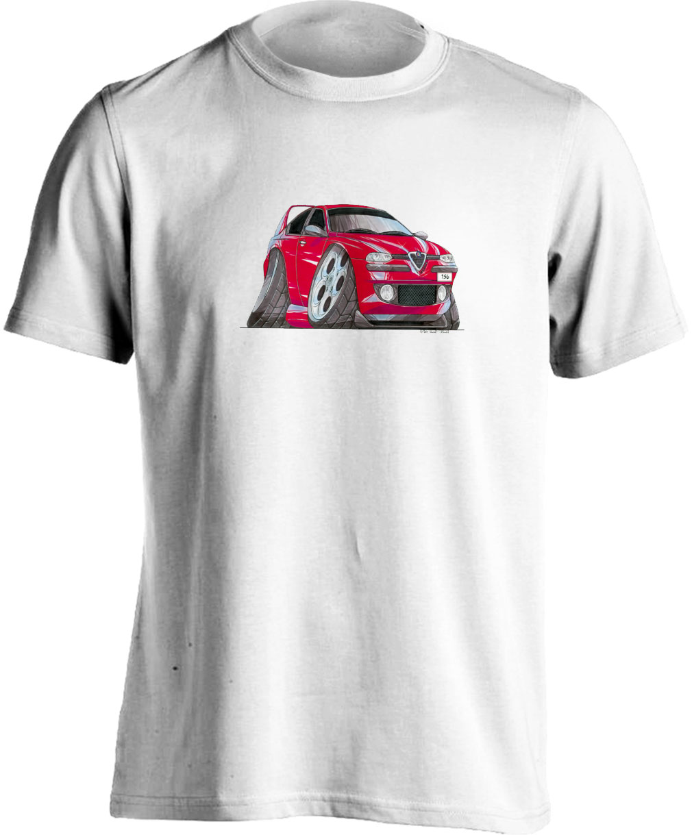 Koolart 156-1421 Red Alfa Romeo Child's T Shirt