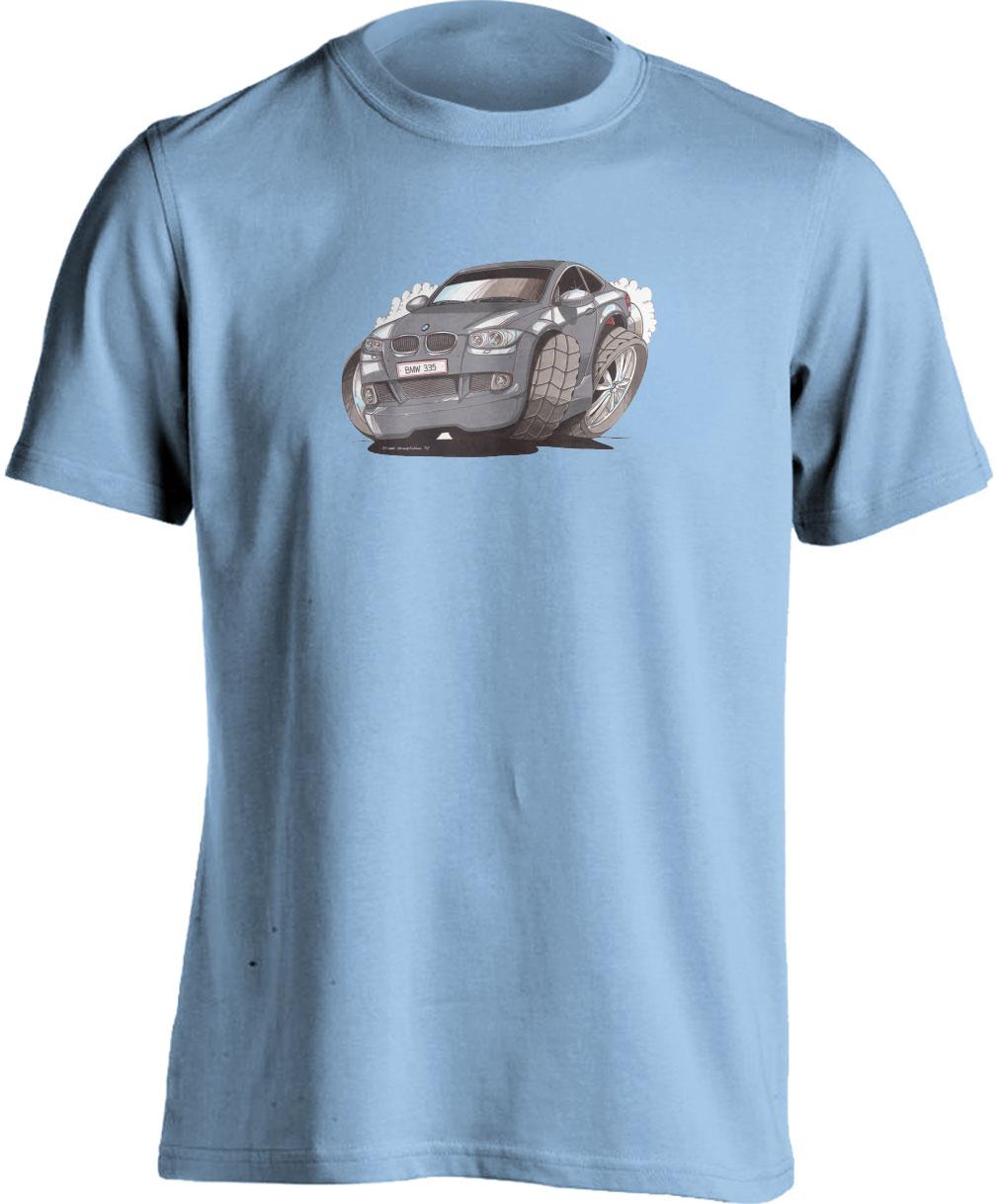 Koolart BMW 335I Silver-2174 Child's Motor Vehicle Kartoon T Shirt