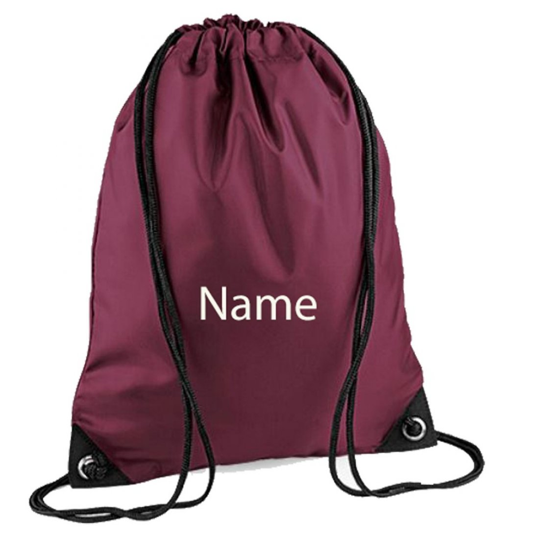 Personalised embroidered Any Name Drawstring Gym Bags