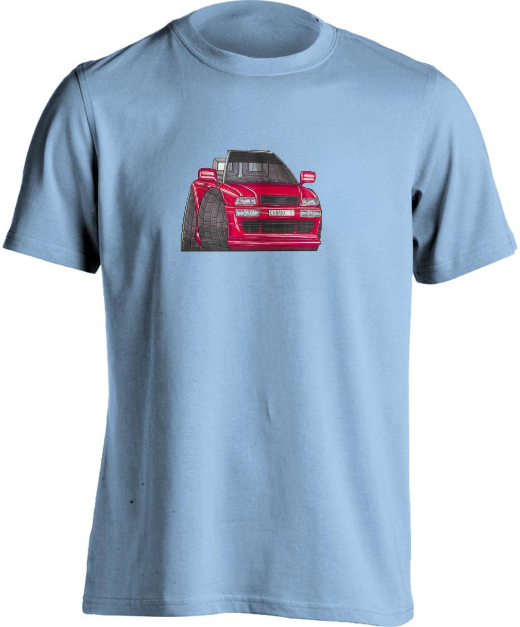 Adults Koolart Audi 80 Cabrio Red 0377 T Shirt