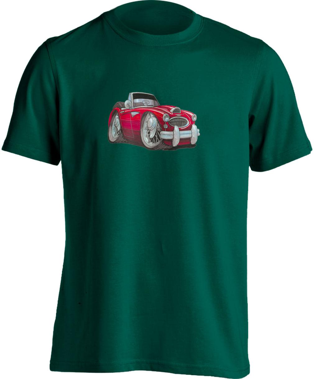 Adults Koolart Austin Healey 3000 Red 0721 T Shirt
