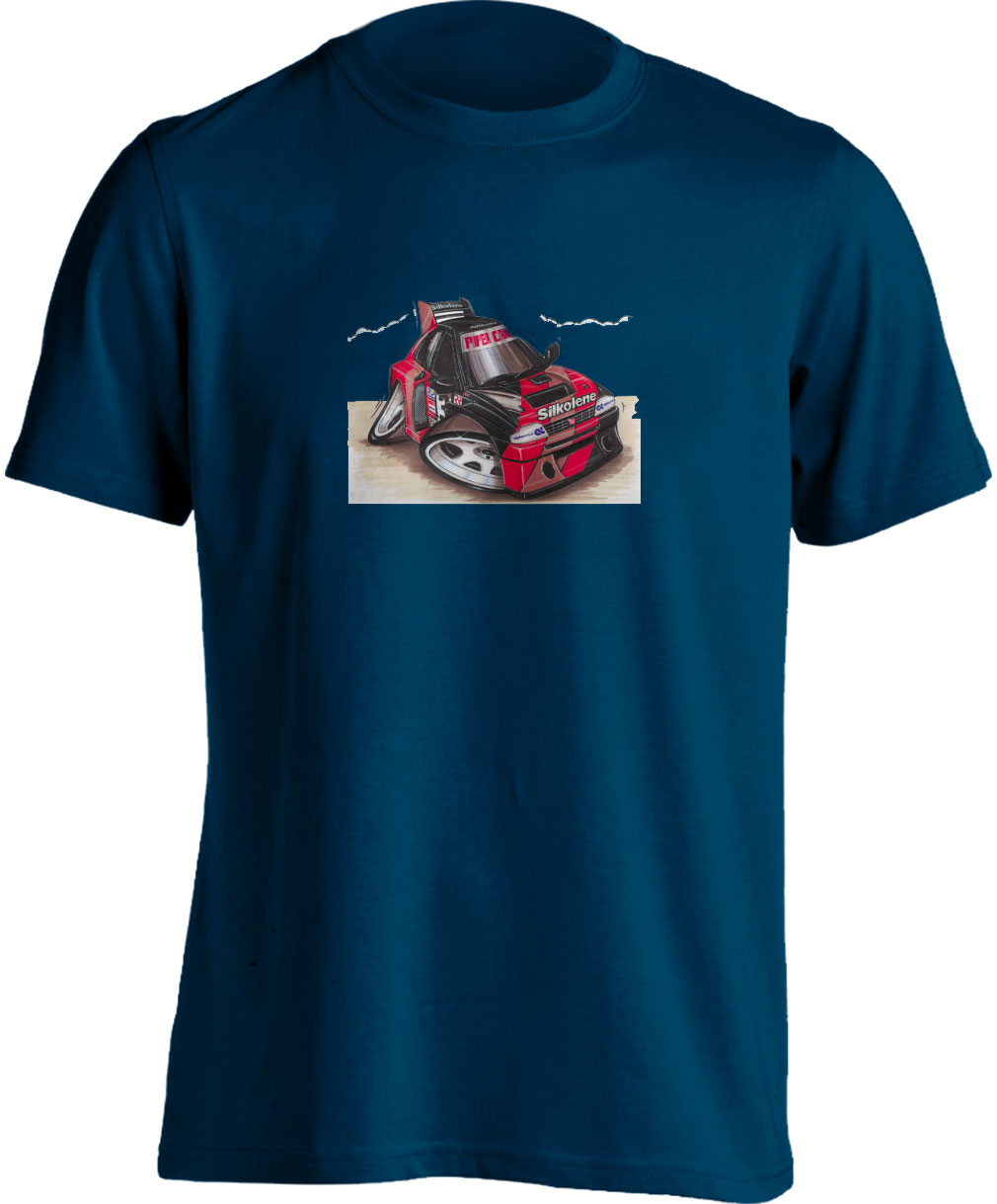 Koolart Austin Rover MG Metro 6R4 Silkolene Livery – 0505-Adults Unisex T Shirt