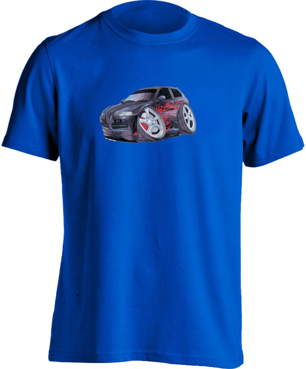 Koolart 147-2787Tuning Black Alfa Romeo Child's T Shirt