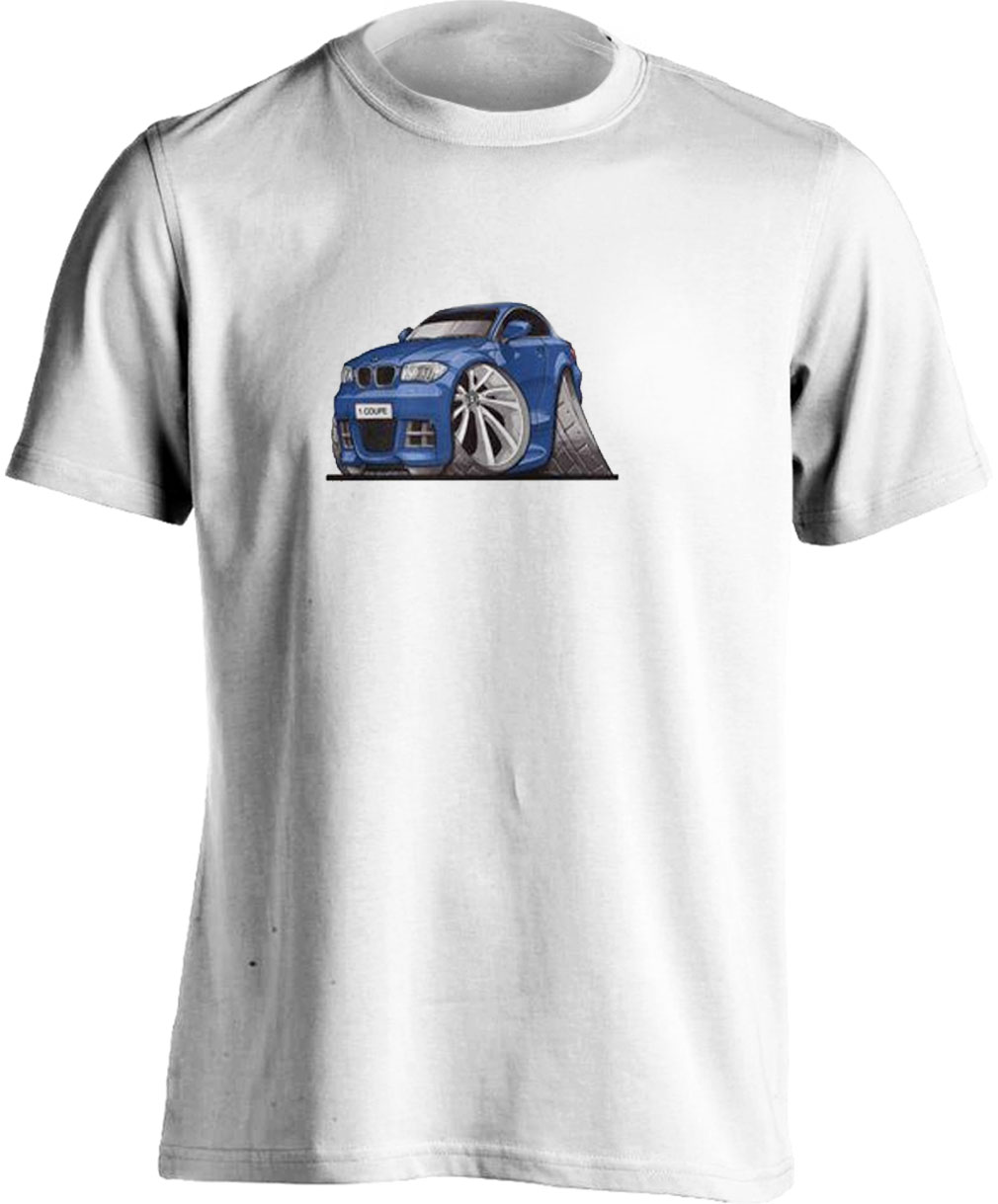 KoolartBMW 1 Coupe Blue-3152 Adults Unisex Kartoon T Shirt