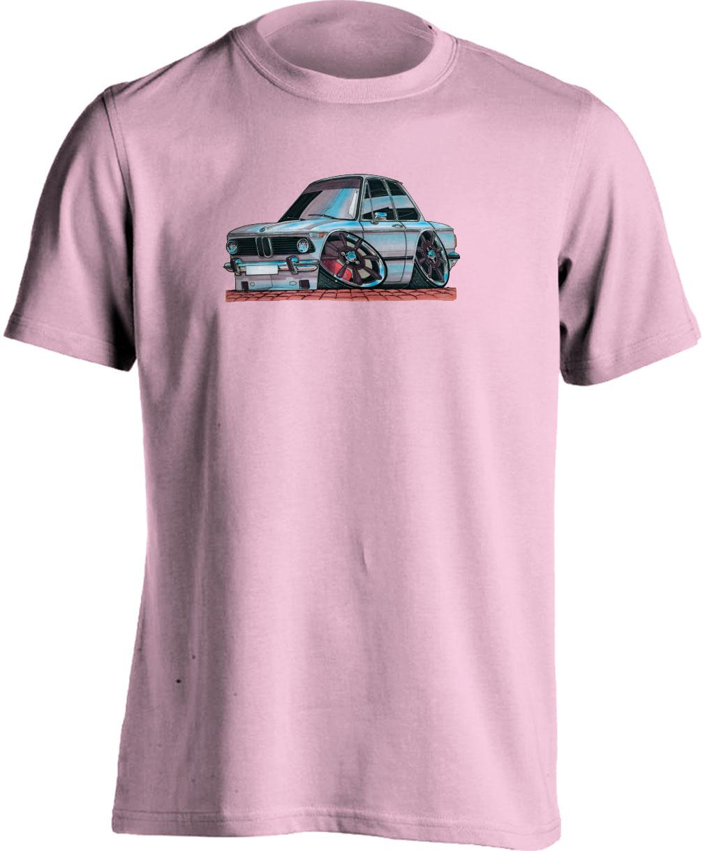 koolart BMW 2002 COUPE White -0078- Adults Unisex Motor Vehicle T Shirt