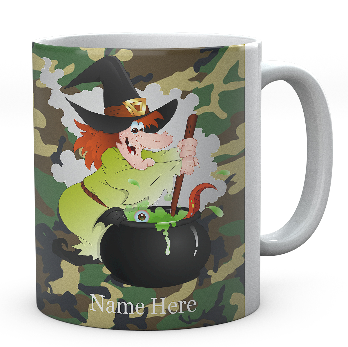 Witch And Cauldron Personalised Mug