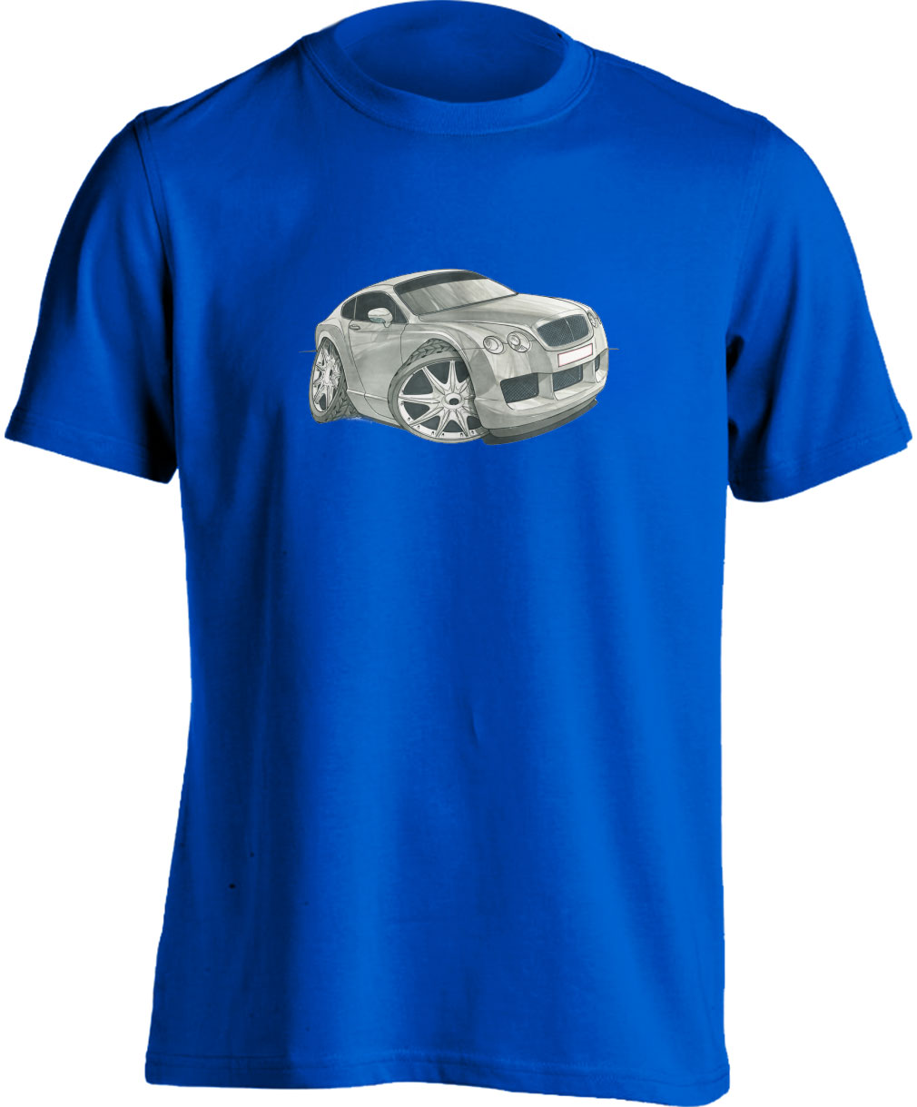 Koolart Bentley Continental Silver-1735-Child's Unisex T Shirt
