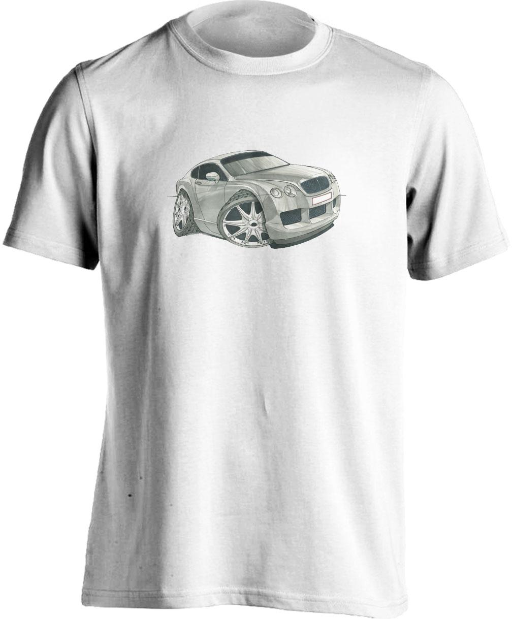 Koolart Bentley Continental Silver-1735-Unisex T Shirt