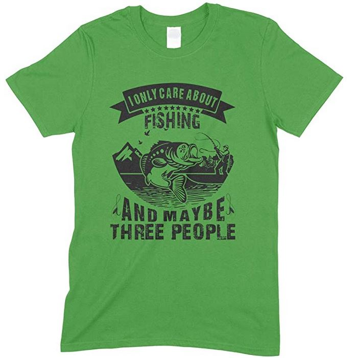 I Only Care About Fishing and Maybe Three People -Kids T Shirt Boy-Girl