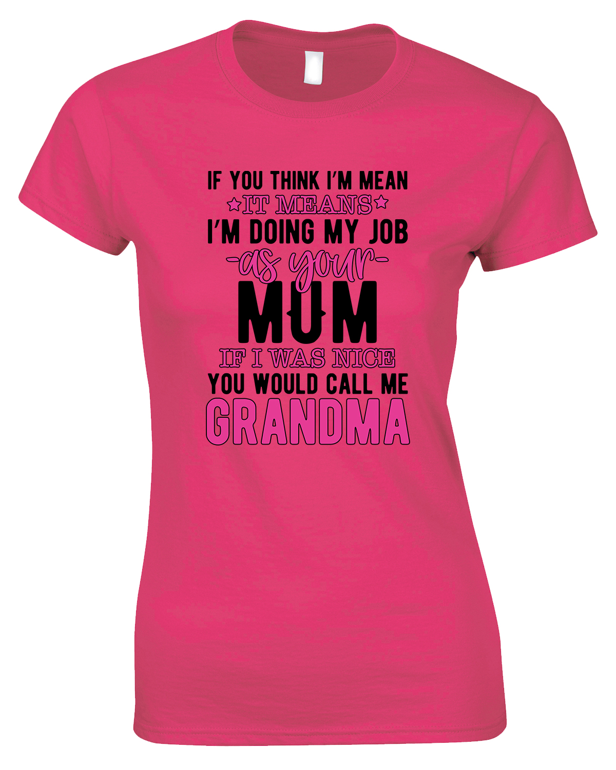 If You Think I'm Mean It Means I'm Doing My Job ....Ladies Novelty T Shirt