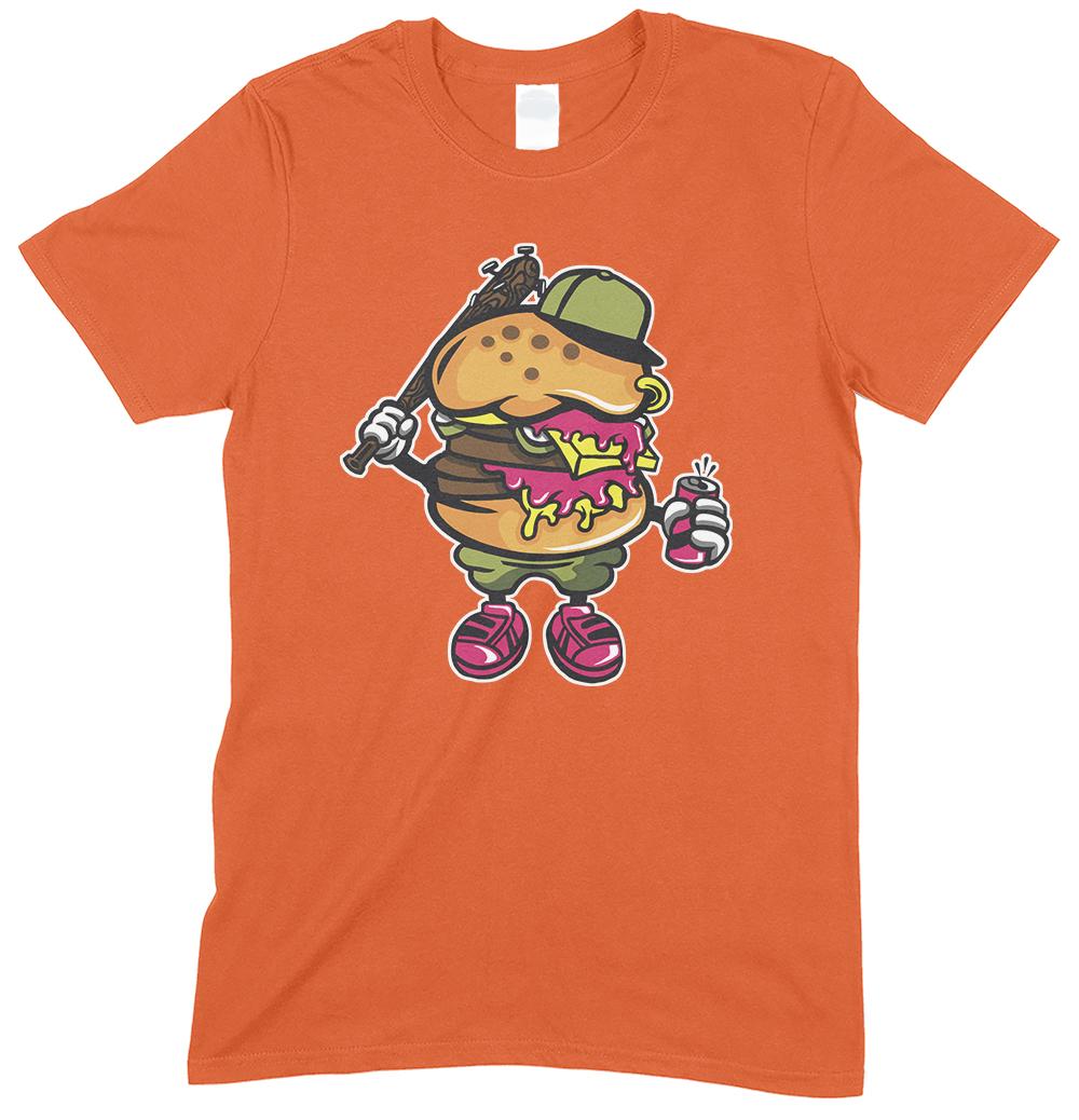 Burger Thug Cartoon Funny Men's T Shirt
