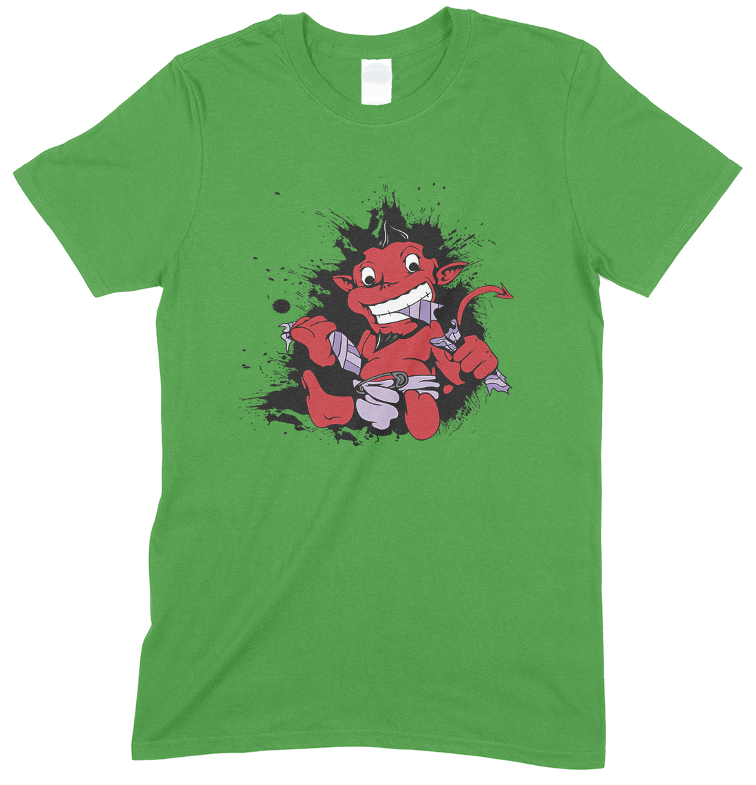 Demon Devil Baby in A Nappy- Unisex Gym  T Shirt