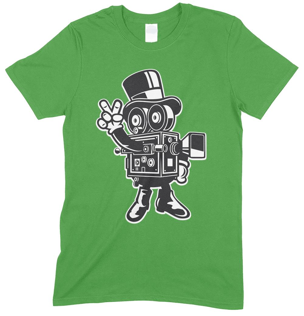 Classic Cameraman Cartoon Men's Novelty Funny T Shirt