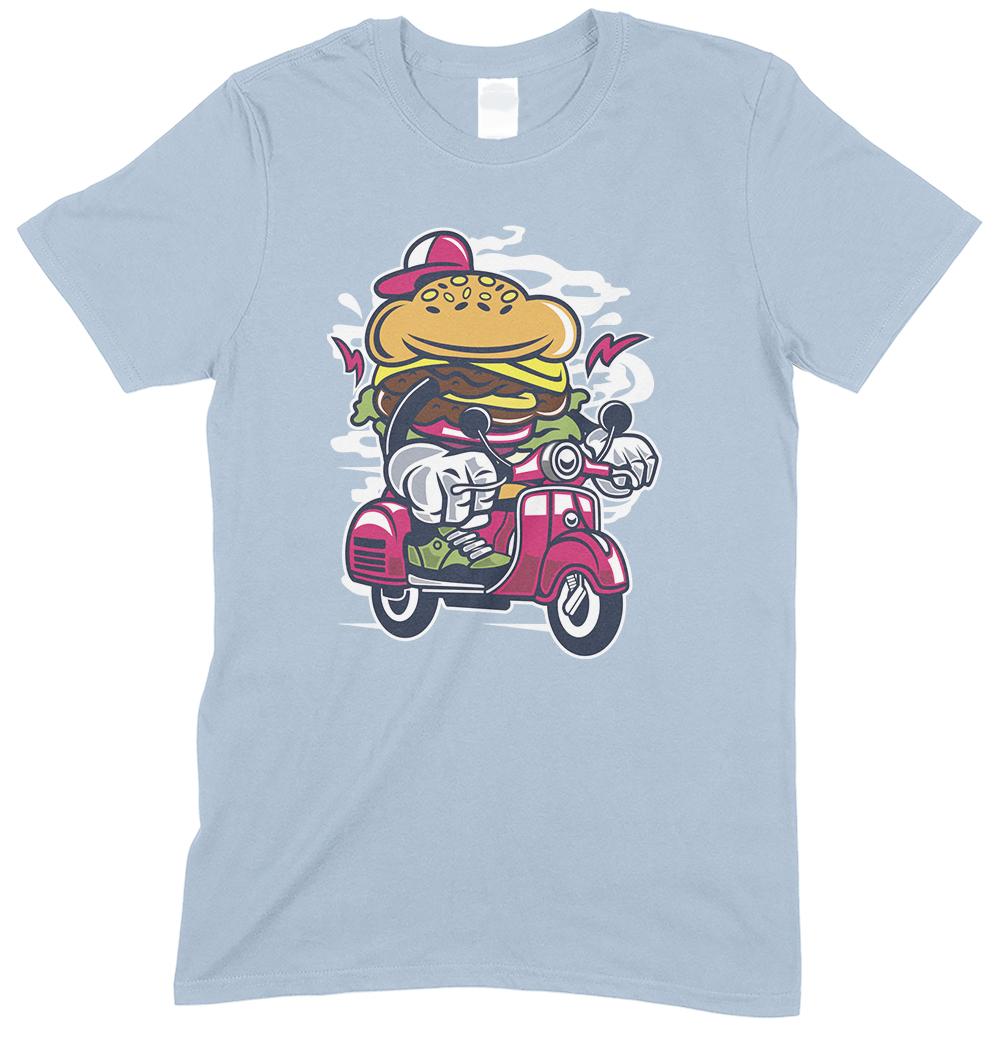 Burger scooter Cartoon - Children's Funny T Shirt Boy-Girl