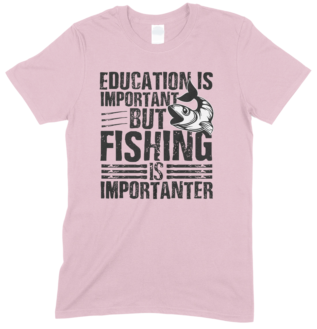 Education is Important But Fishing is Importanter - Childs T Shirt