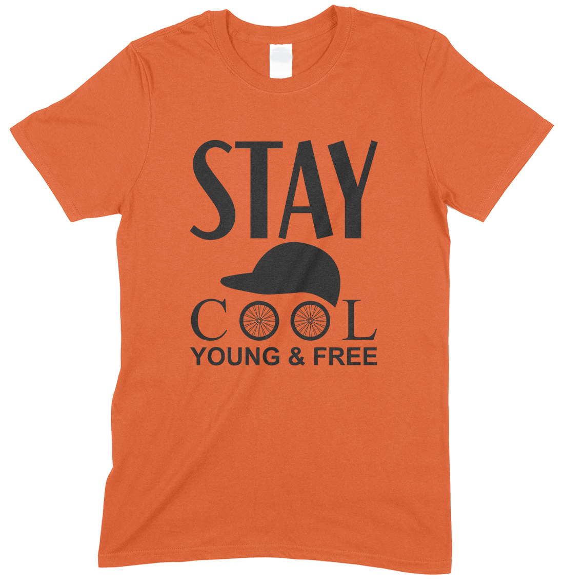 Stay Cool Young & Free- Cycling Unisex T Shirt