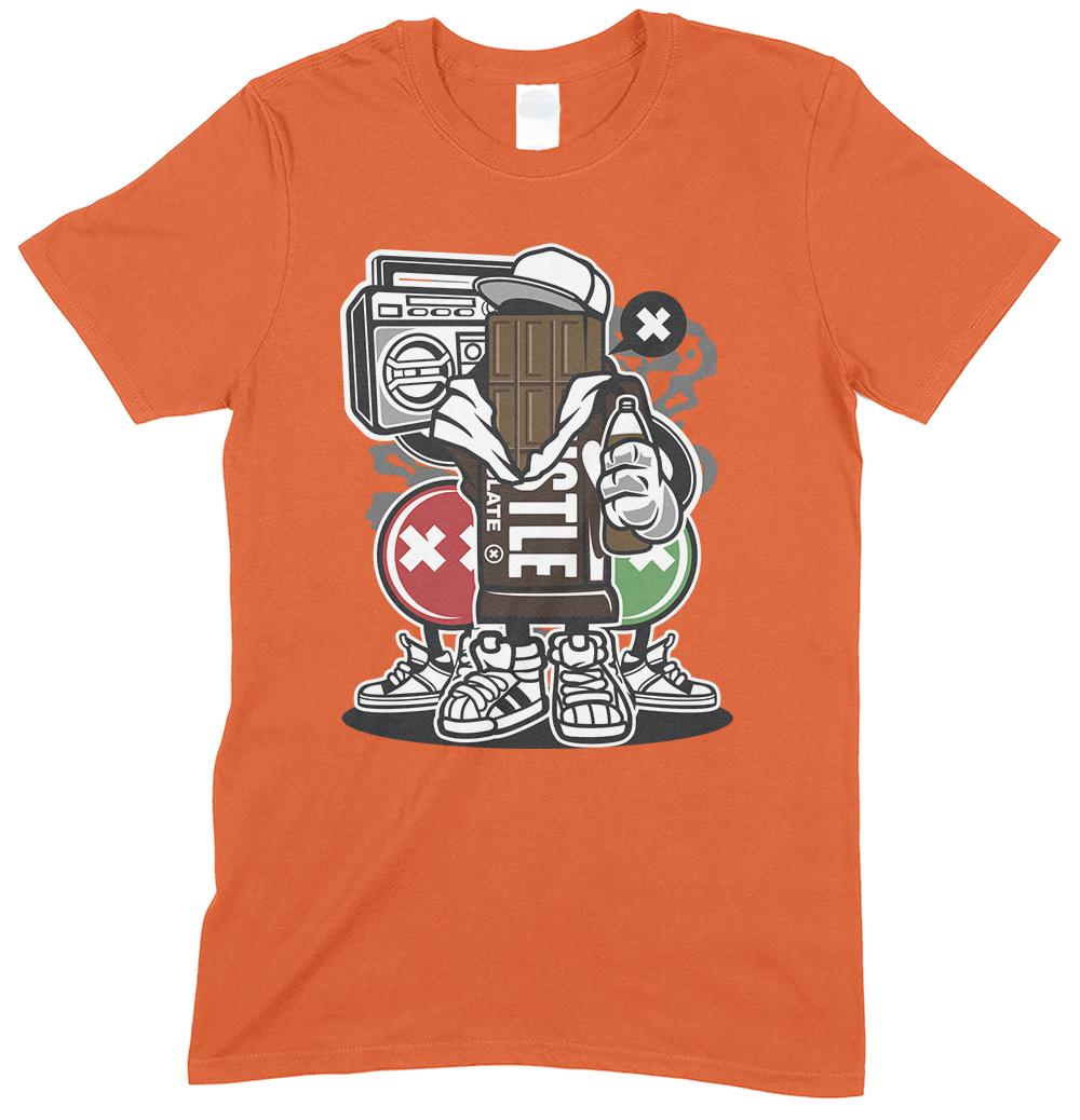 Chocolate Square CartoonMen's Novelty Funny T Shirt