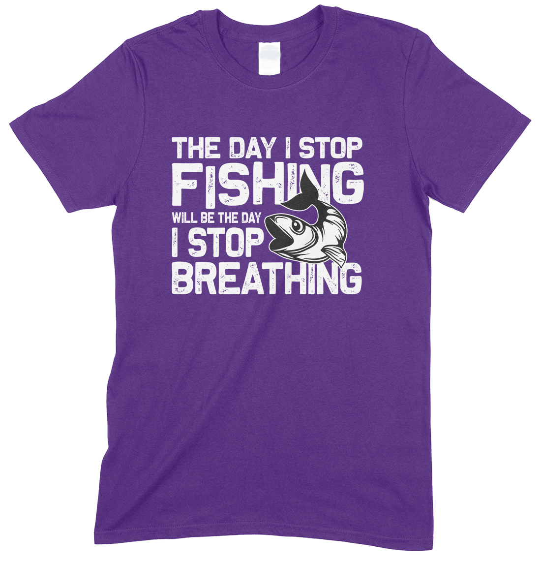 The Day I Stop Fishing Will Be The Day I Stop Breathing-Unisex Child's T Shirt Boy/Girl