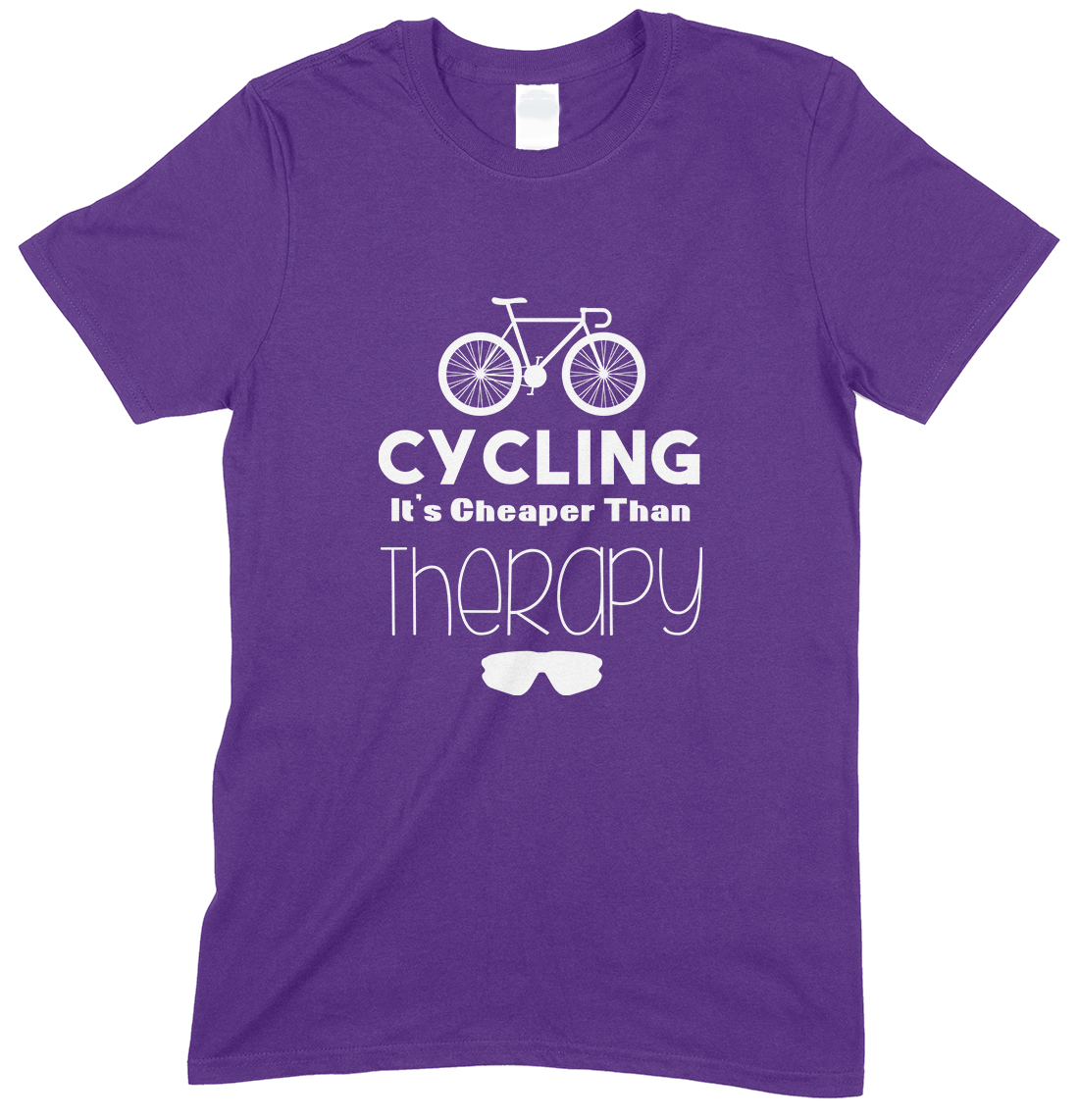 Cycling It's Cheaper Than Therapy-Adults Unisex T Shirt