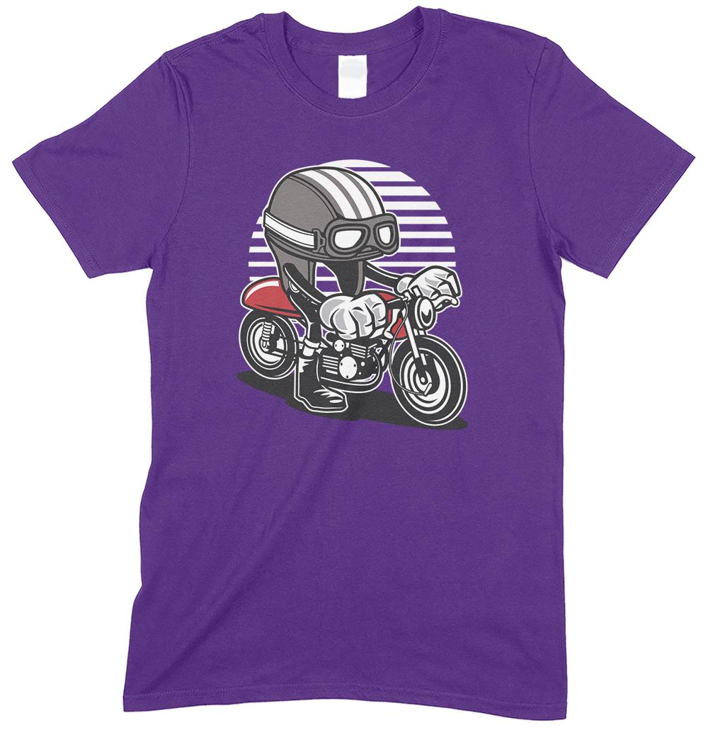 Caferacer Cartoon Motorbike Funny Men's Novelty T Shirt