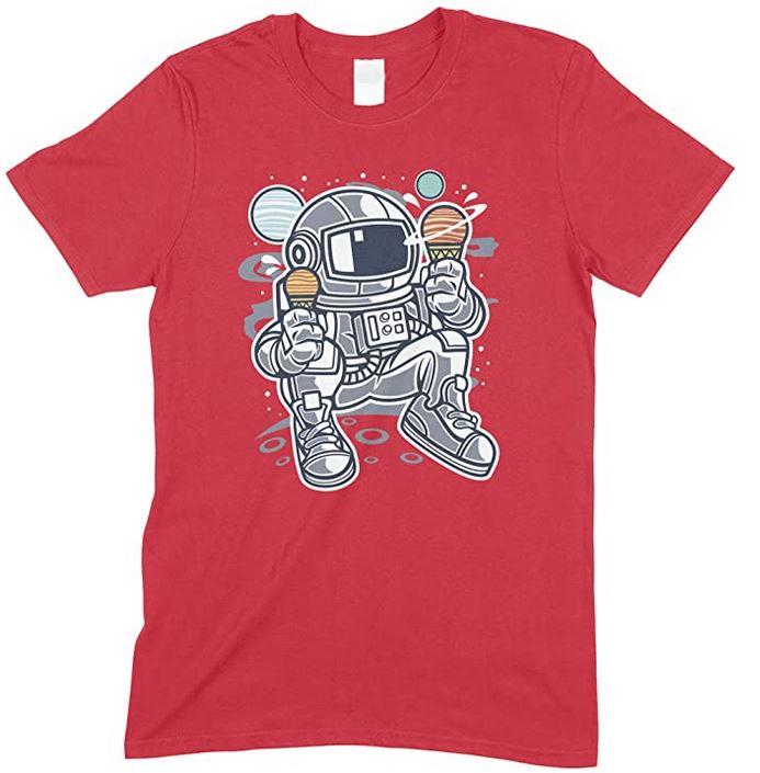Astronaut Ice Cream Space T Shirt Unisex Men's