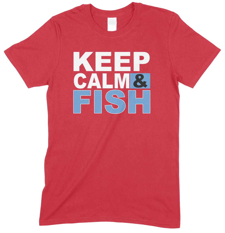 Keep Calm & Fish - Unisex Adults T Shirt