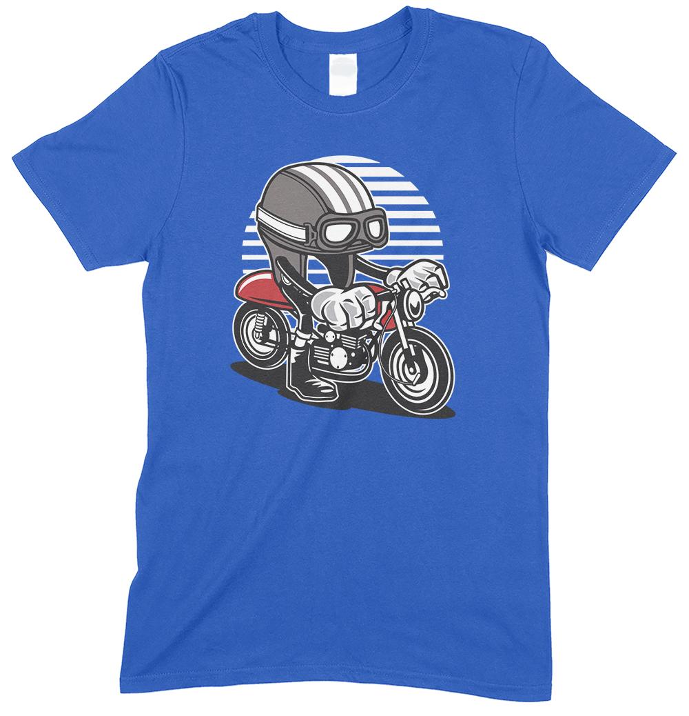 Caferacer Cartoon Motorbike Children's  Funny T Shirt