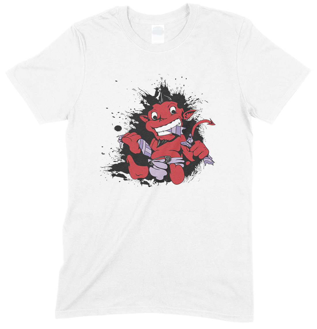 Demon Devil Baby in A Nappy- Children's T Shirt Boy-Girl