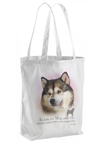 Alaskan Malamute Dog Tote Shopping Bag