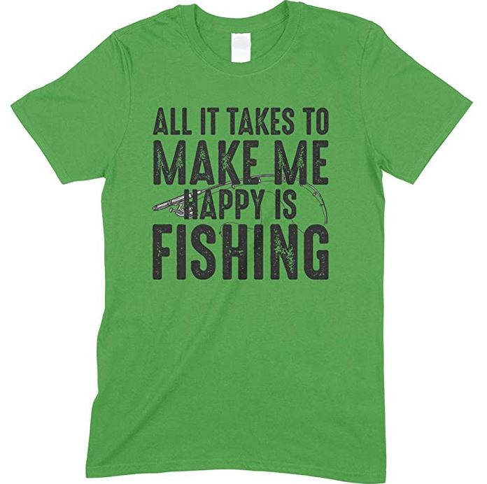 All It Takes to Make Me Happy is Fishing  - Unisex Fishing T Shirt