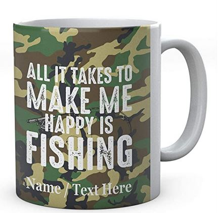 All It Takes to Make Me Happy is Fishing - Personalised Fishing Mug