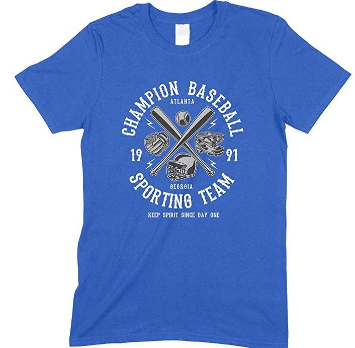Champion Baseball Sporting Team Keep Spirit Since Day One-Men's Unisex Fun T Shirt