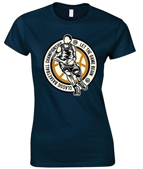 Classic Basketball Championship Let The Game Begin - Ladies Fun T Shirt