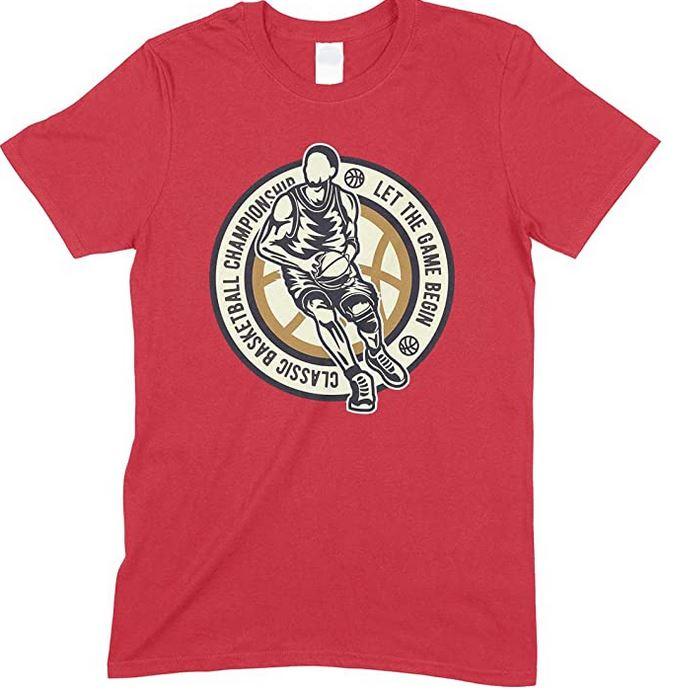 Classic Basketball Championship Let The Game Begin Kid's Fun T Shirt Boy-Girl