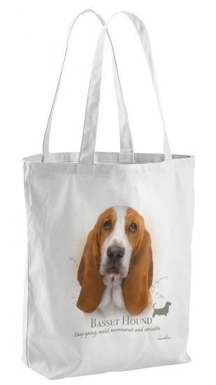 Basset Hound Dog Tote Shopping Bag