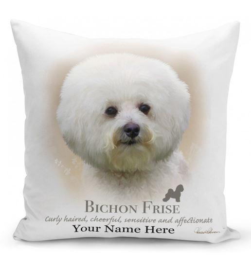 Bichon Frise Dog  Cushion