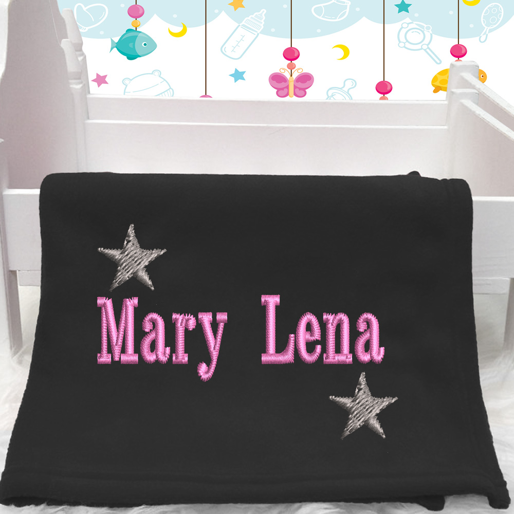 Personalised Star Baby Blanket With Name