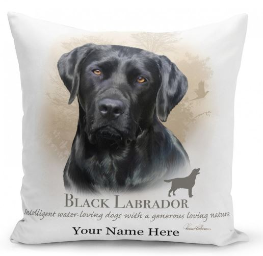 Black LabradorDog Cushion