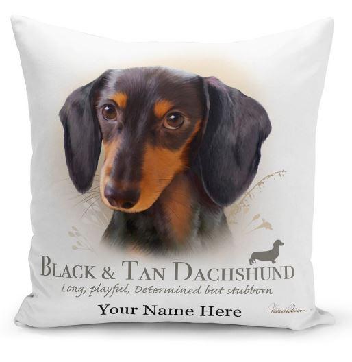 Black n Tan dachshund Dog Cushion