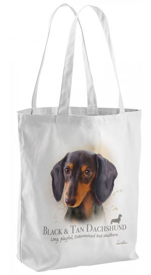 Black N Tan Dachshund Dog Tote Shopping Bag